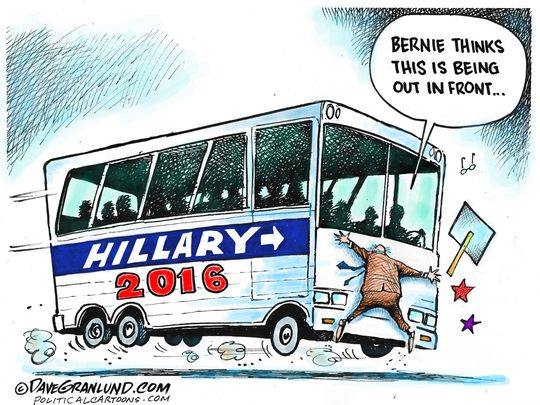 Hillary:  You've got to throw someone under the bus